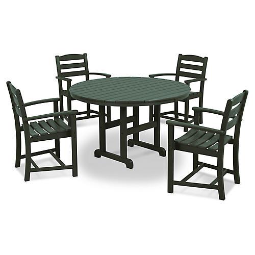 La Casa Café 5-Pc Dining Set, Green
