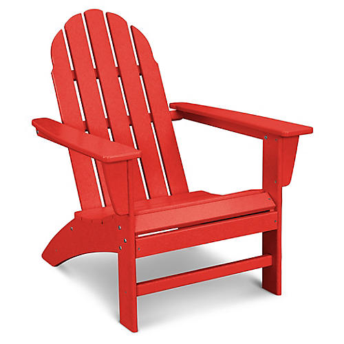 Vineyard Adirondack Chair, Sunset Red