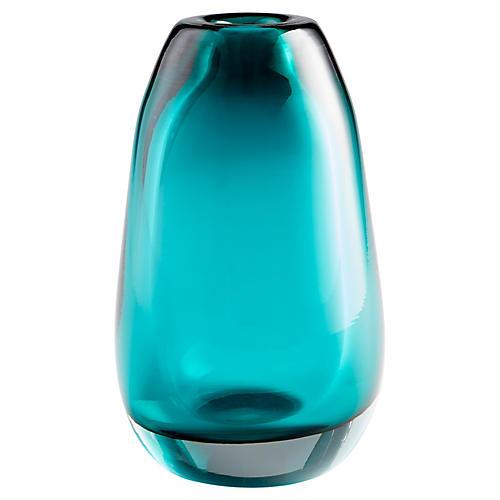 """10"""" Ocean Small Vase, Blue"""