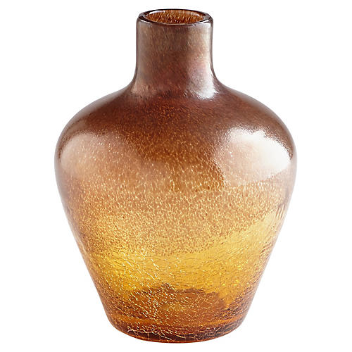 "12"" Lapalux Wide Vase, Tortoise"