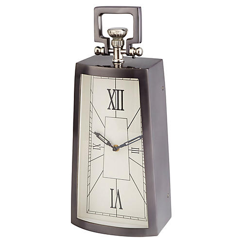 "17"" Doc Clock, Black Nickel"