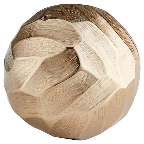 "4"" Sphere Decorative Filler, Champagne"