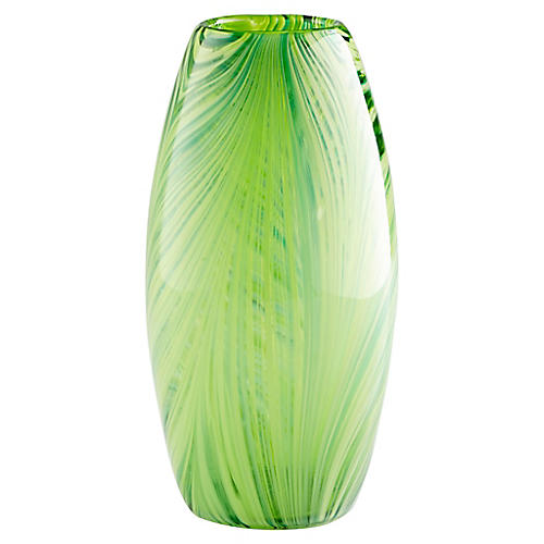 """12"""" Rettile Small Vase, Green"""