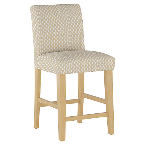 Shannon Counter Stool, Flax Dot
