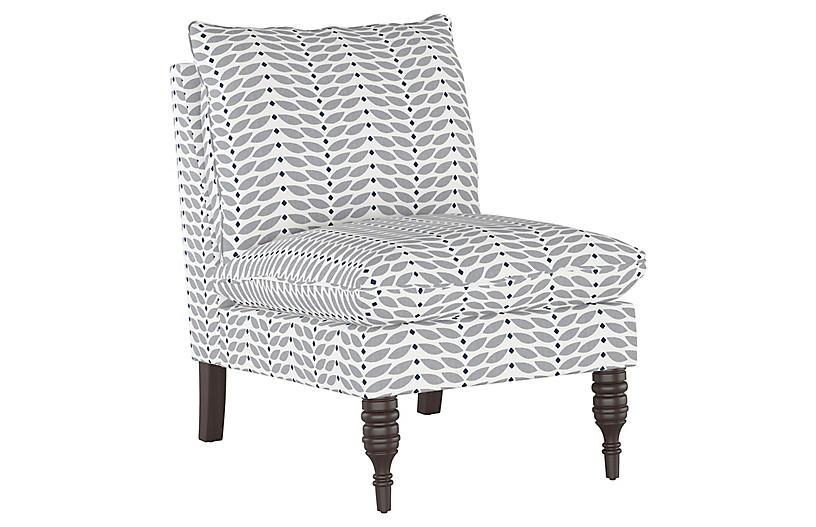 Daphne Slipper Chair, Petal Gray