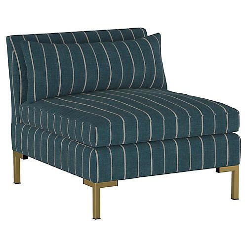 Marceau Slipper Chair, Fritz Indigo