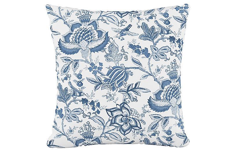 Praire Pillow, Floral Blue