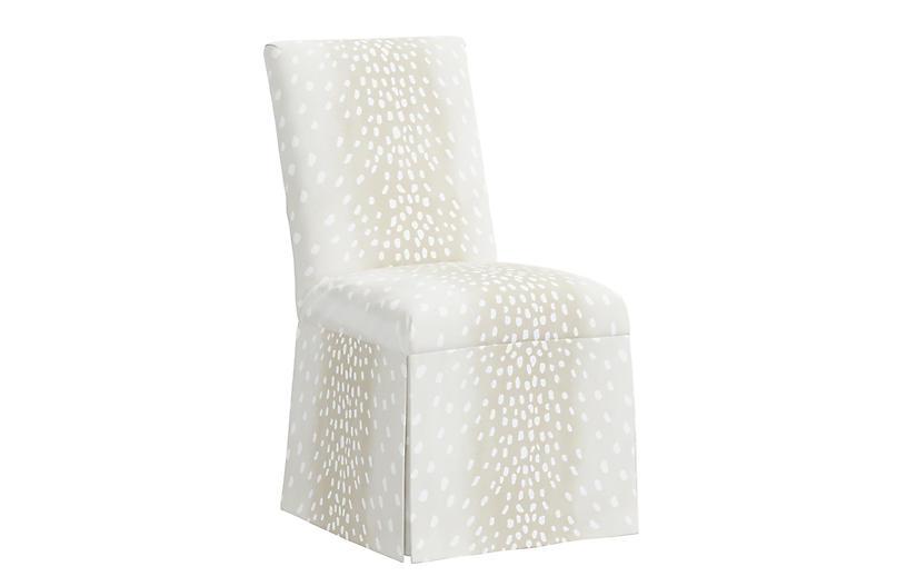Owen Side Chair, Fawn Stripe