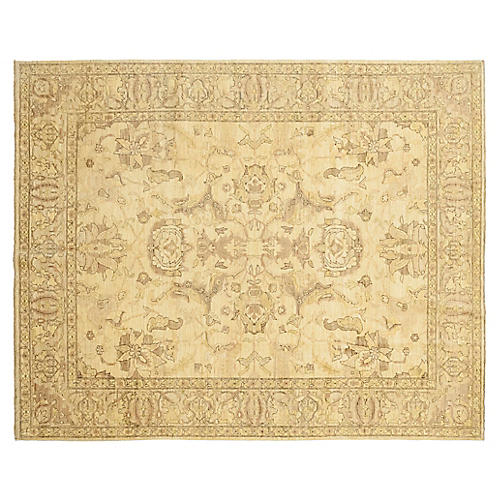 """8'9""""x9'9"""" Naomh Hand-Knotted Rug, Flax"""