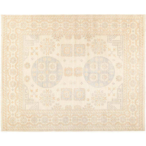 "8'2""x9'10"" Khotan Rug, Tan/Multi"