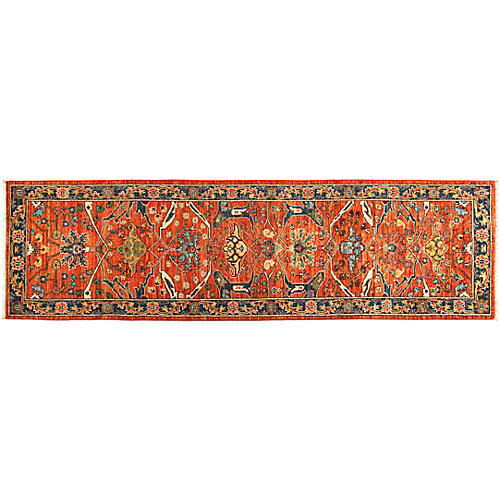 "2'9""x10' Serapi Runner, Ginger"