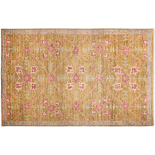 "5'1""x8' Oushak Rug, Brown"
