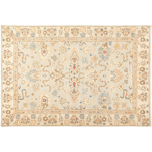 "6'1""x8'10"" Oushak Rug, Wheat"