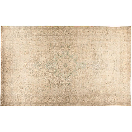 """9'9""""x15'10"""" Vintage-Style Rug, Cocoa"""
