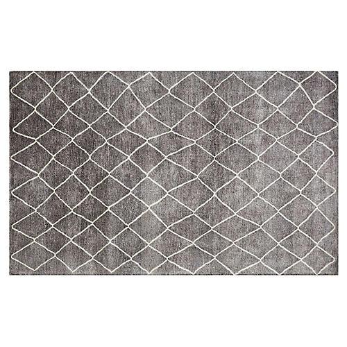 Maroc Rug, Blue/Gray