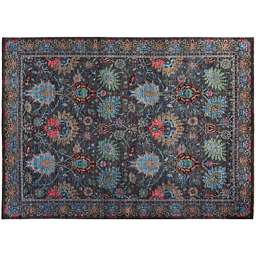 """8'10""""x12'4"""" Colette Eclectic Rug, Gray"""