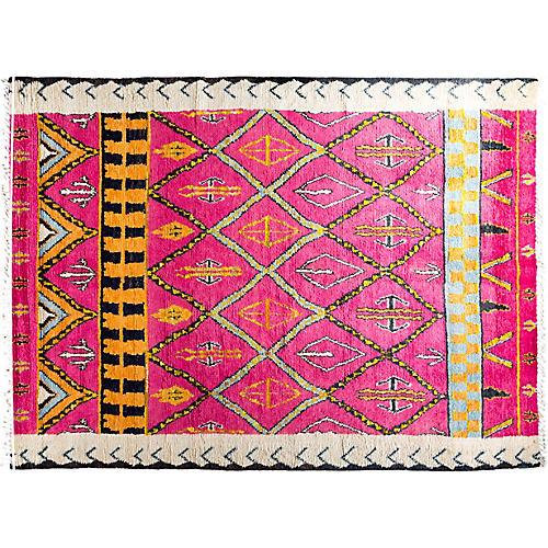 """8'10""""x12'1"""" Adeline Moroccan Rug, Pink"""