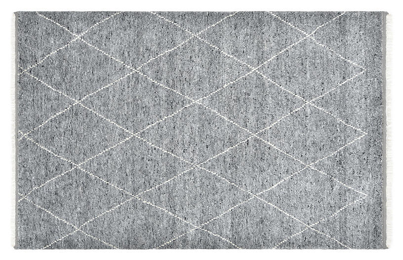 Shelby Moroccan Hand-Knotted Rug, Gray