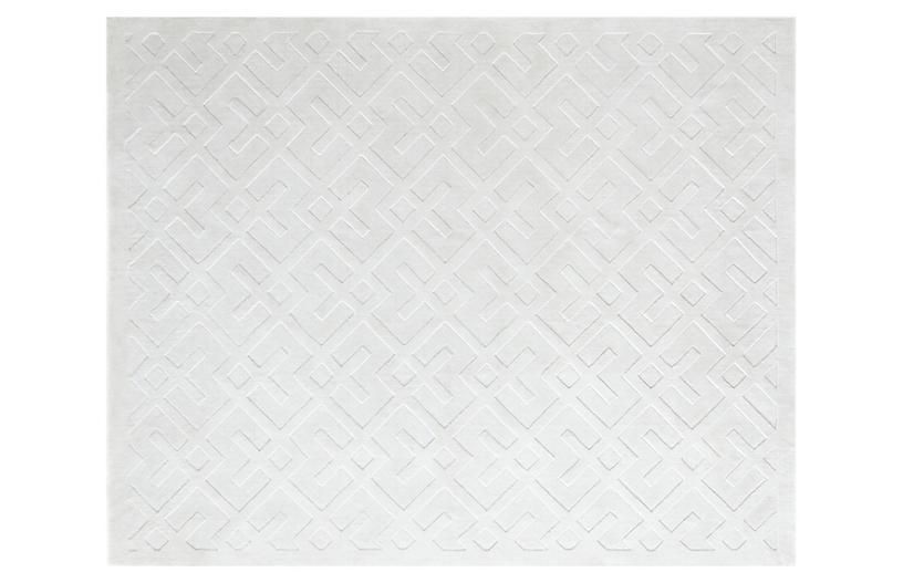 Lena Modern Hand-Loomed Rug, White