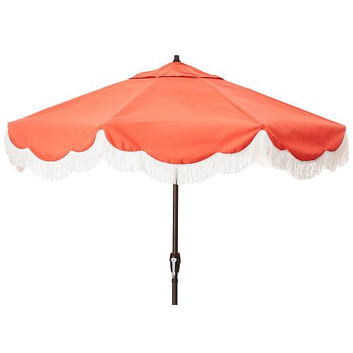 Cloud Fringe Patio Umbrella, Melon
