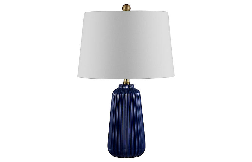 Lucy Table Lamp, Navy Blue