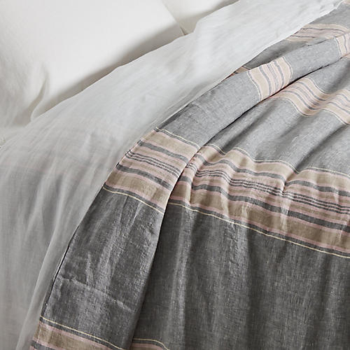 Neapolitan Duvet Cover, Gray/Multi