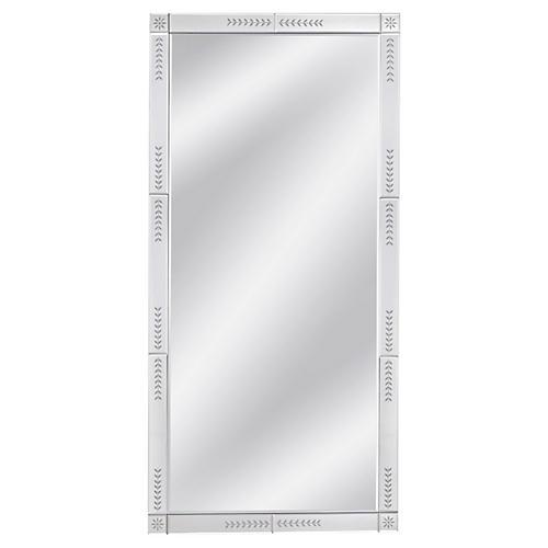 Marco Floor Mirror, Silver
