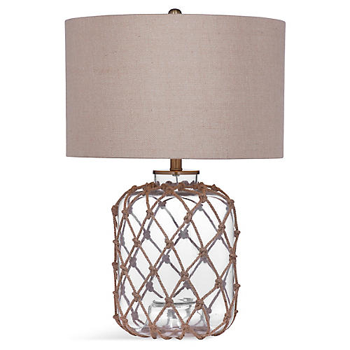 Hadley Table Lamp, Natural/Clear