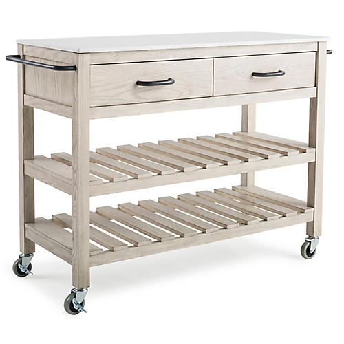 Milbrook Kitchen Cart, Natural