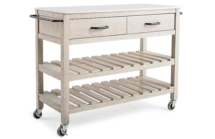 Westport Kitchen Cart, Natural
