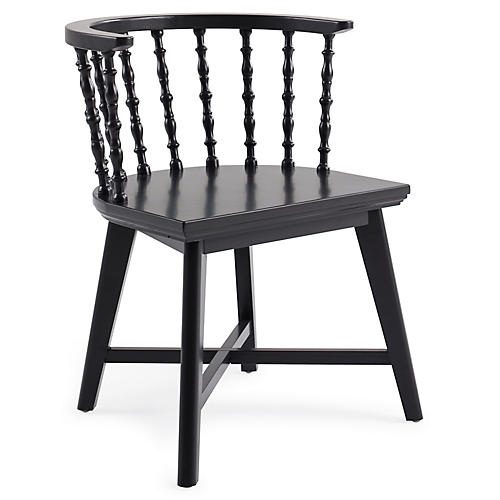 Wythe Windsor Chair, Black