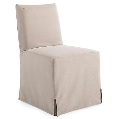 Lovell Slipcover Side Chair, Natural