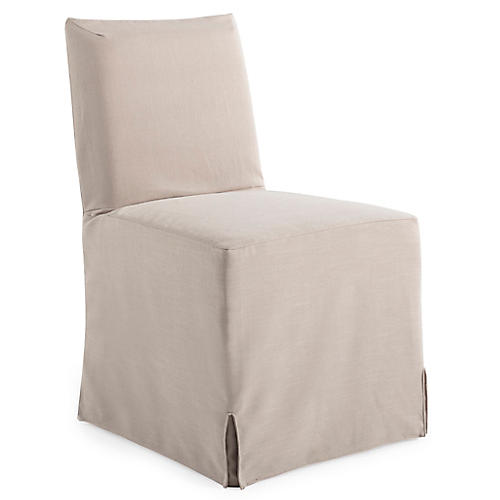 Lovell Slipcover Side Chair, Natural