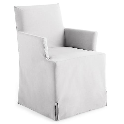 Lovell Slipcover Armchair, White