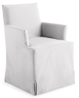 Lovell Slipcover Armchair, White