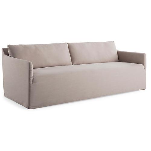 Dorsett Bench Seat Sofa, Mushroom