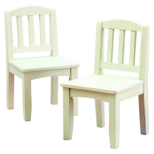 S/2 Kingsley Play Chairs, White