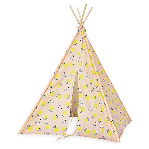 Lemons Teepee, Pink/Yellow
