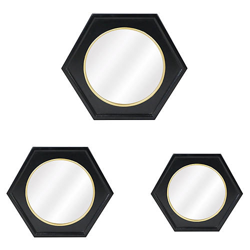 Calais Wall Mirrors, Black