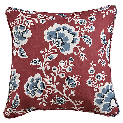 Catrine 19x19 Pillow, Coral
