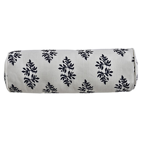 Yara Indigo Sprig 7x20 Bolster Pillow, Blue