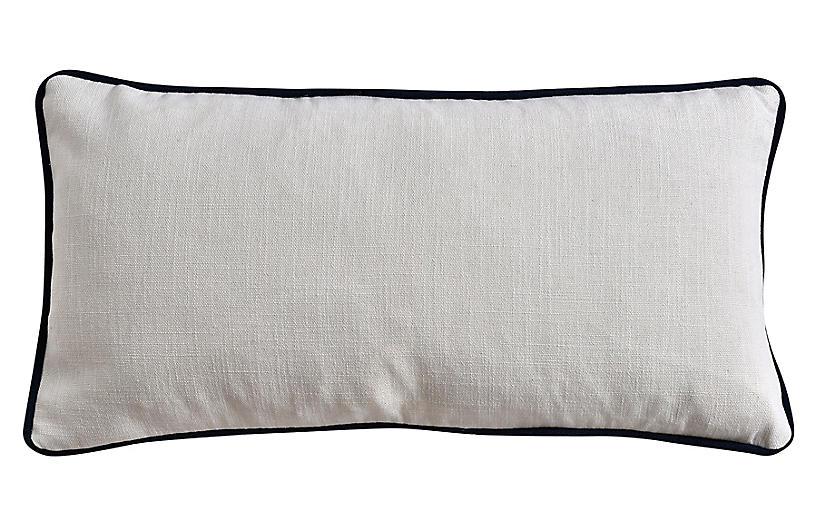 Jocelyn 12x23 Lumbar Pillow, Ivory