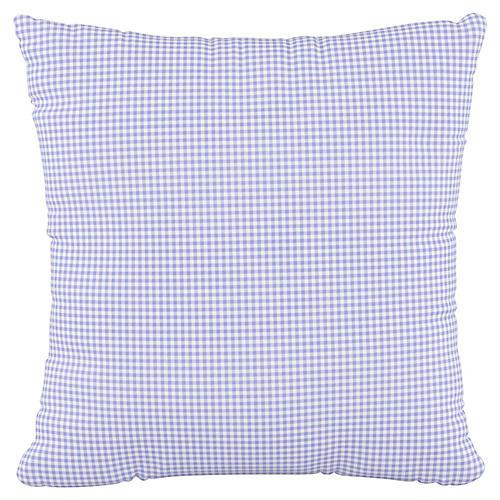 Addison 18x18 Pillow, Gingham Blue