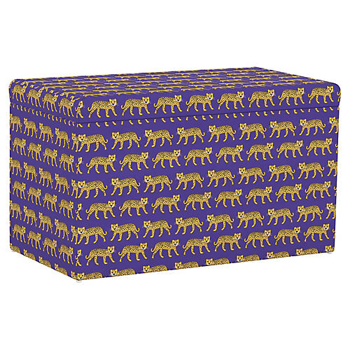 Sebastian Storage Bench, Cheetah Blue