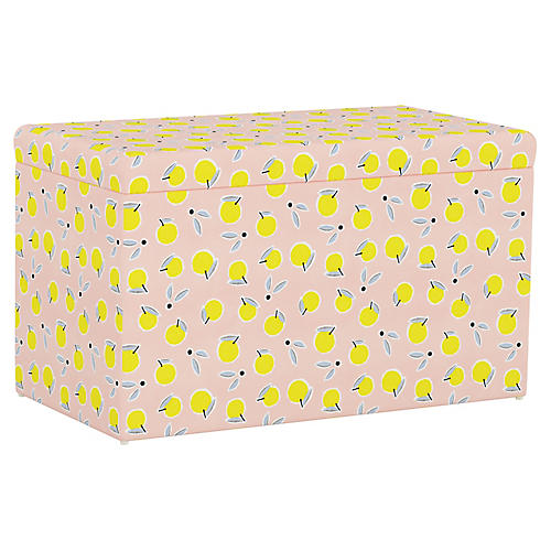 Sebastian Storage Bench, Lemon Pink