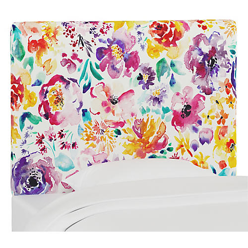Jordan Headboard, Washed Floral Multi