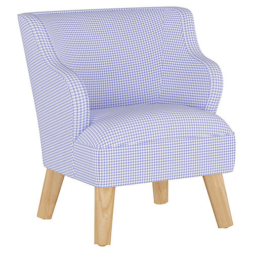 Stella Chair, Gingham Blue