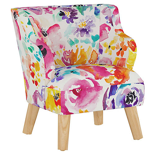 Stella Chair, Washed Floral Multi