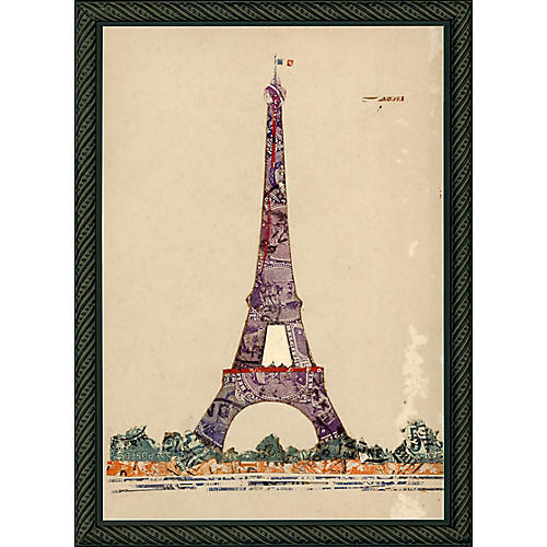 Paris Eiffel Tower Stamp