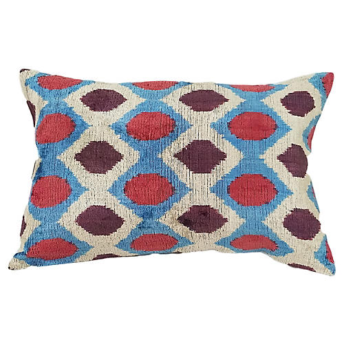 Hexagon 16x24 Silk-Blend Pillow, Multi